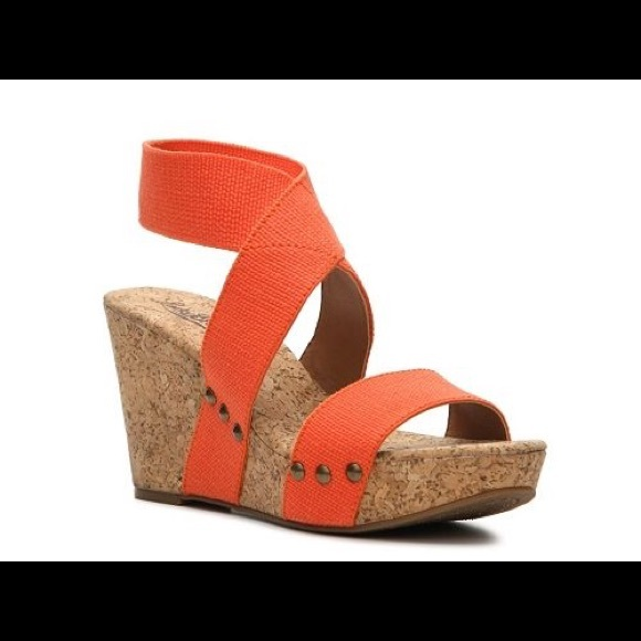 81274a2e9eb lucky brand shoes lucky brand marinah orange wedge sandals
